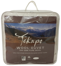 Ellis Fibre Tekapo 200gsm Wool Duvet - Made in NZ