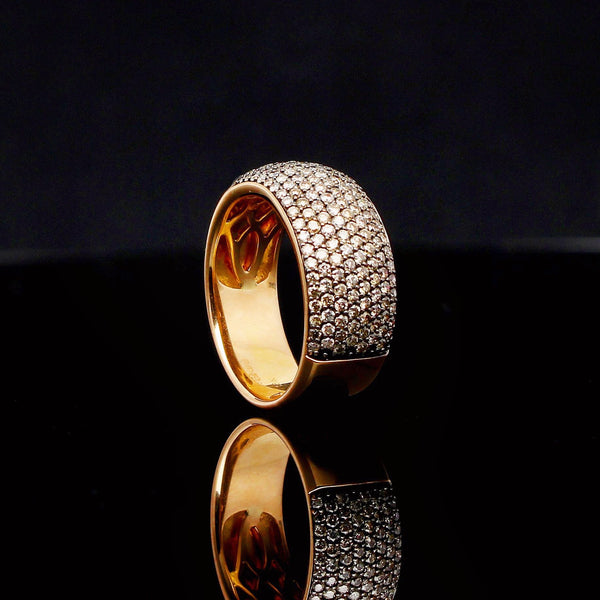Jewellery - Rose Gold & Brown Diamond Band