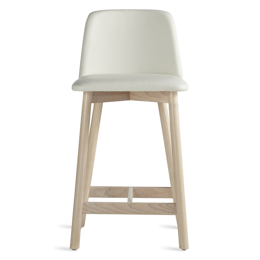 Blu Dot Chip Leather Counter Stool
