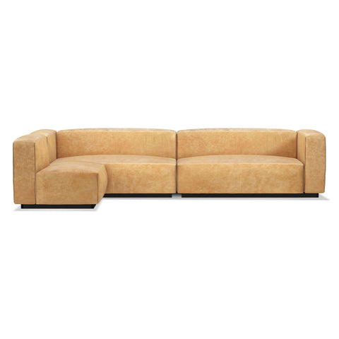 Blu Dot Cleon Medium+ Leather Sectional Sofa