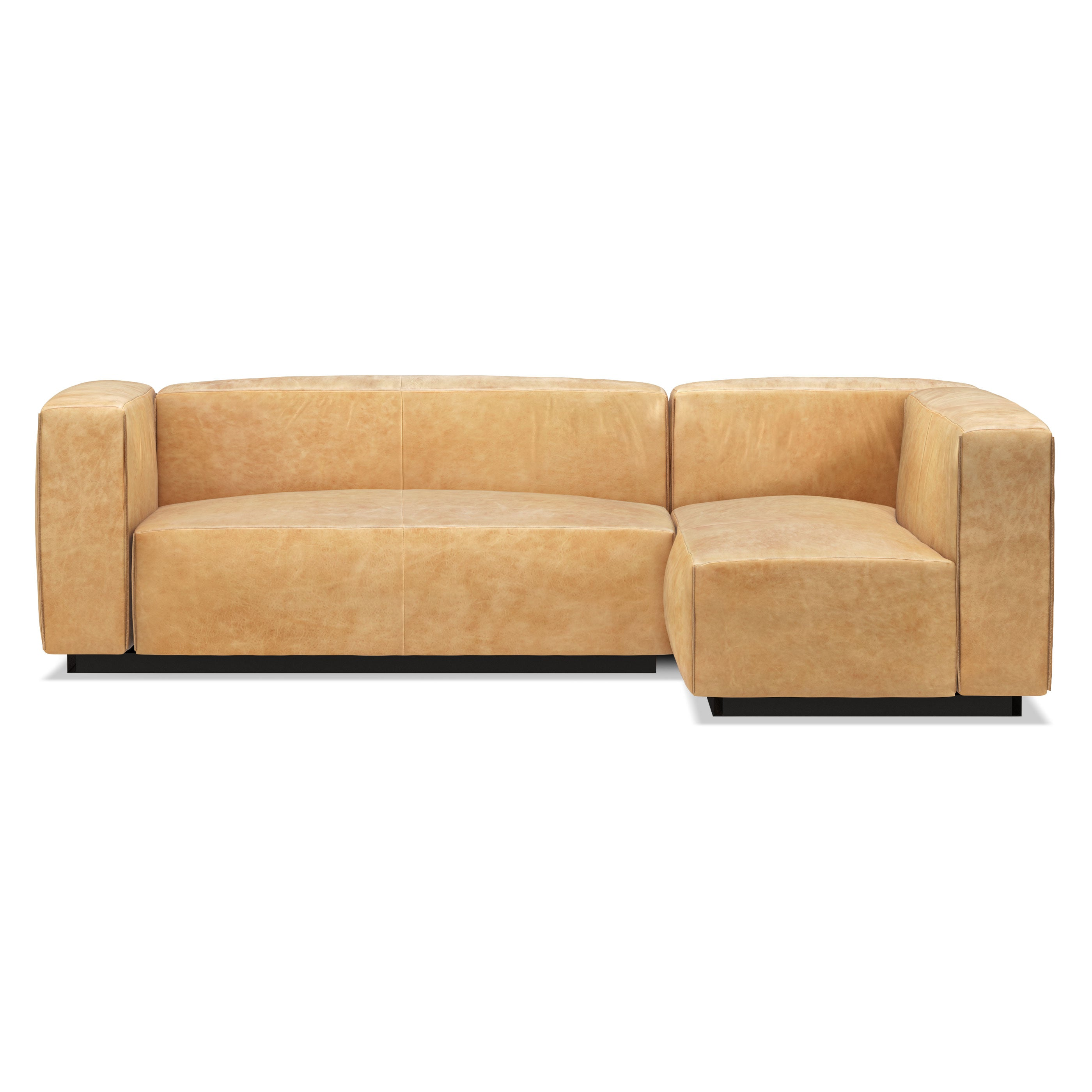 Beau Blu Dot Cleon Small Leather Sectional Sofa