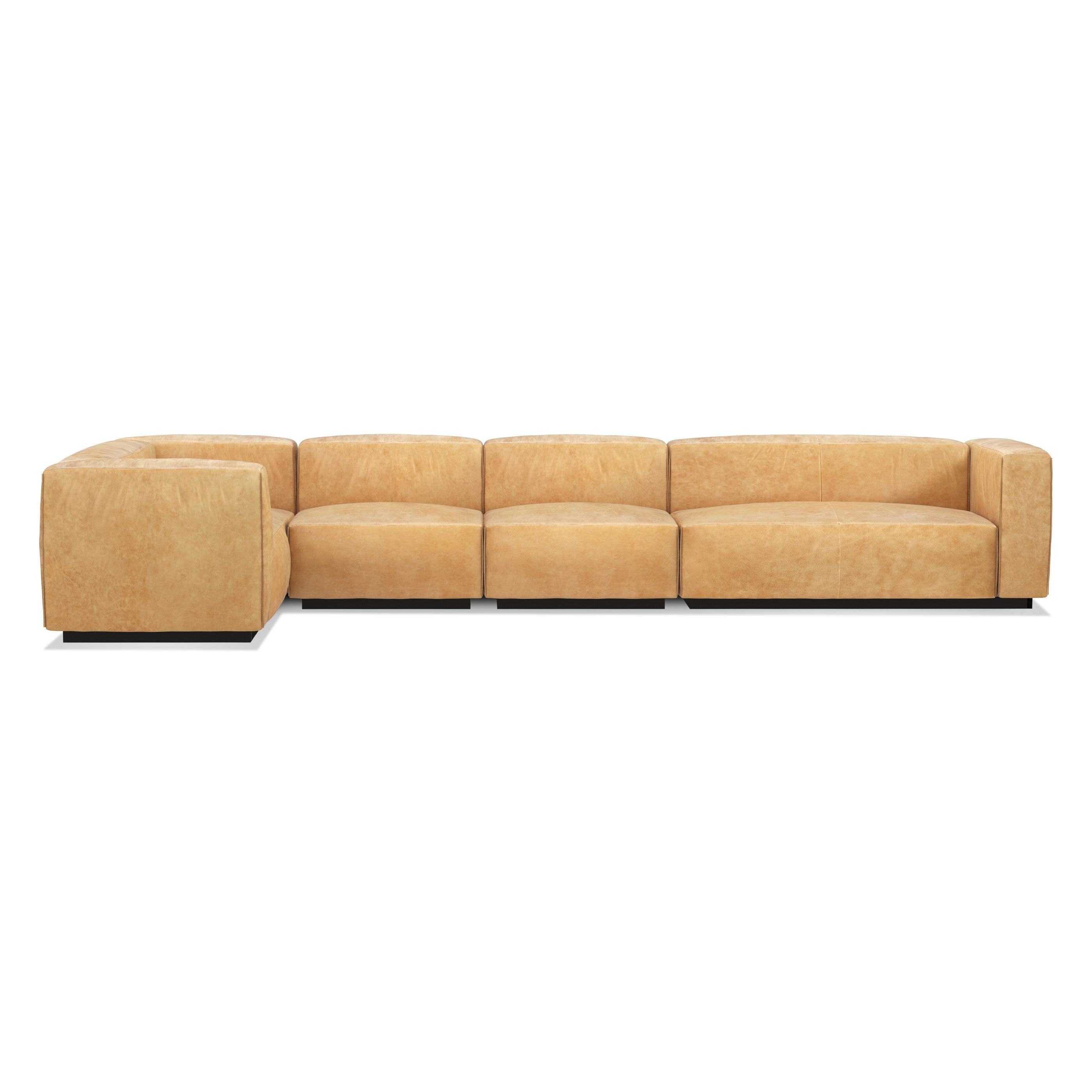 Blu Dot Cleon Large Leather Sectional Sofa – Hutch - Modern ...