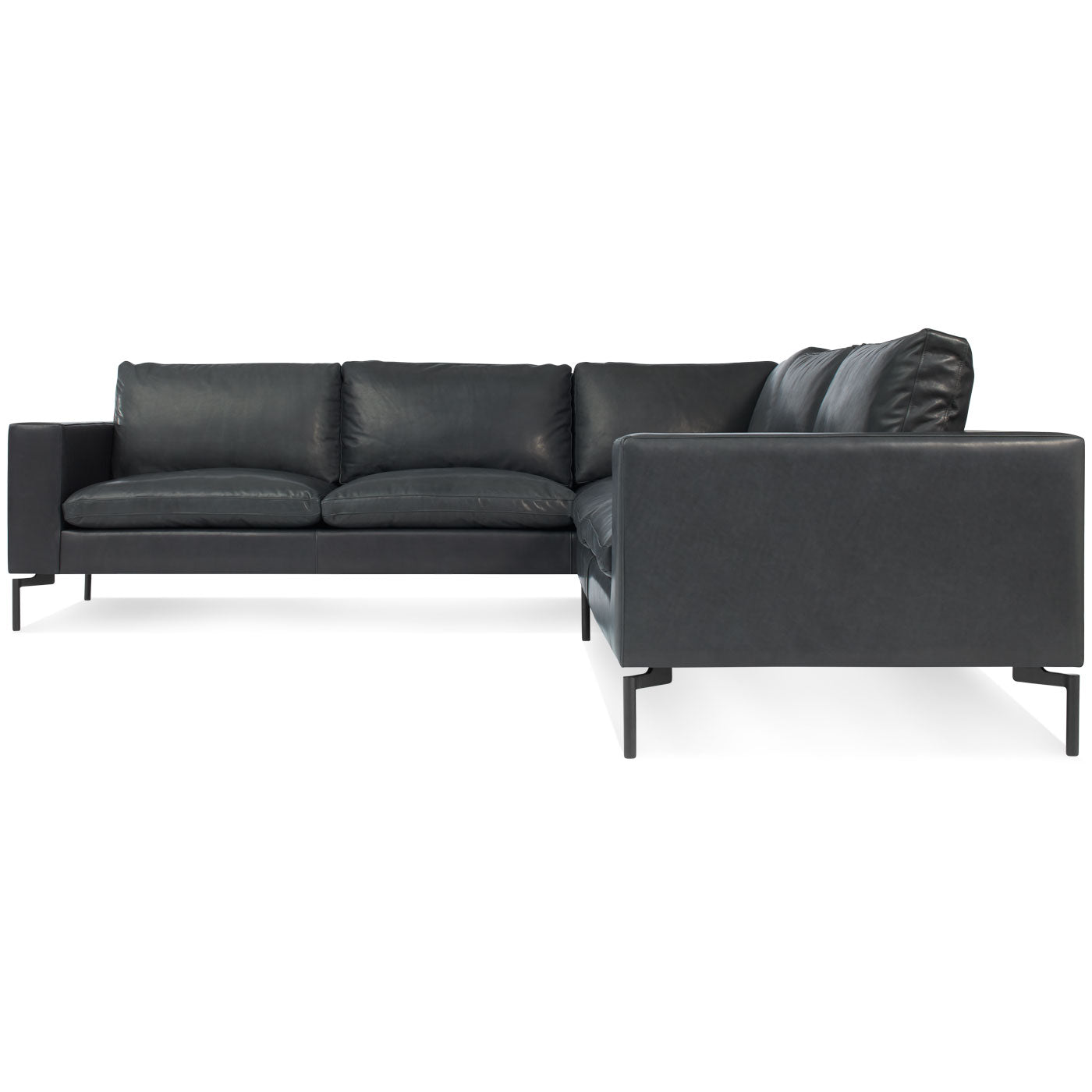 Blu Dot New Standard Right Leather Sectional Sofa - Small – Hutch ...