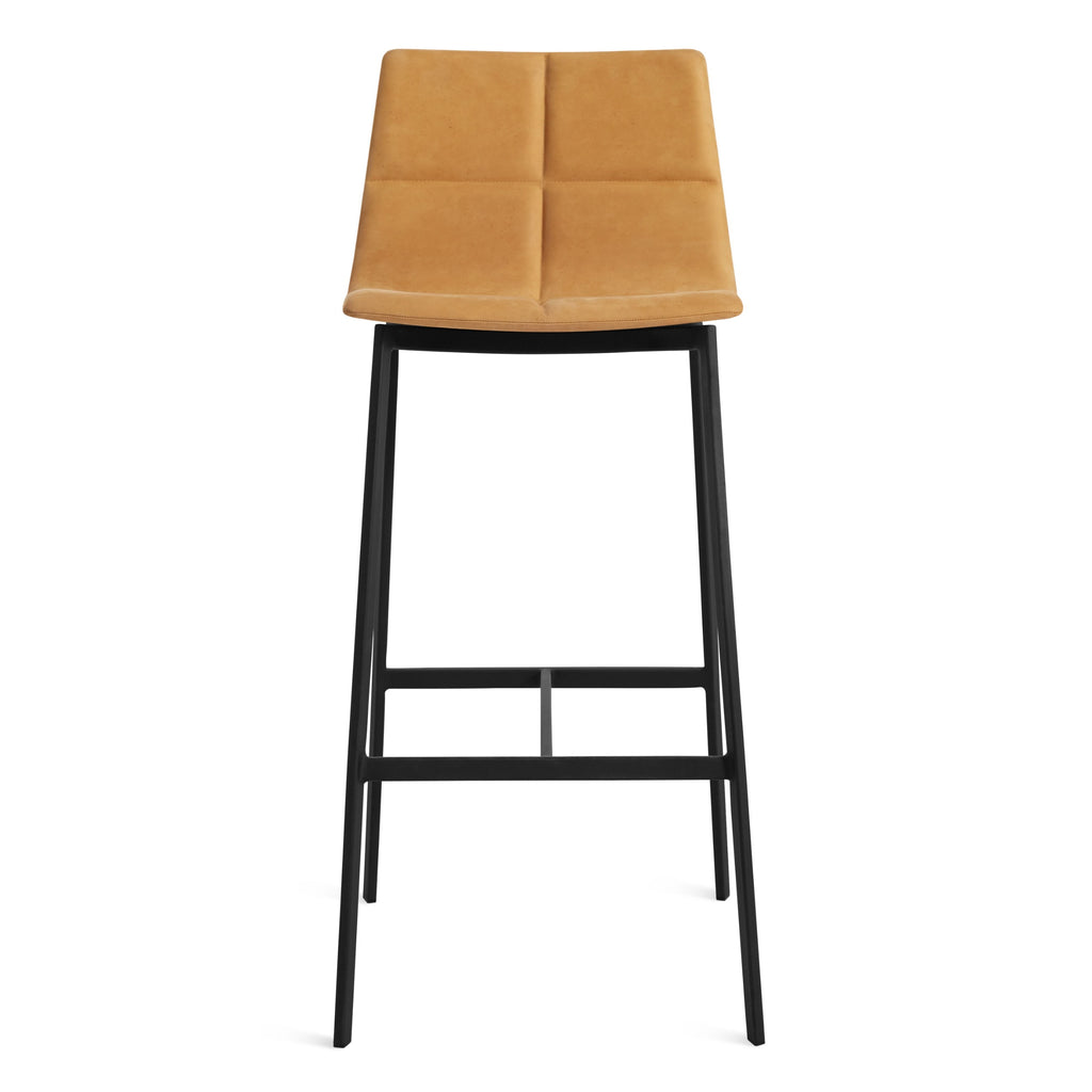 Blu Dot Between Us Leather Barstool