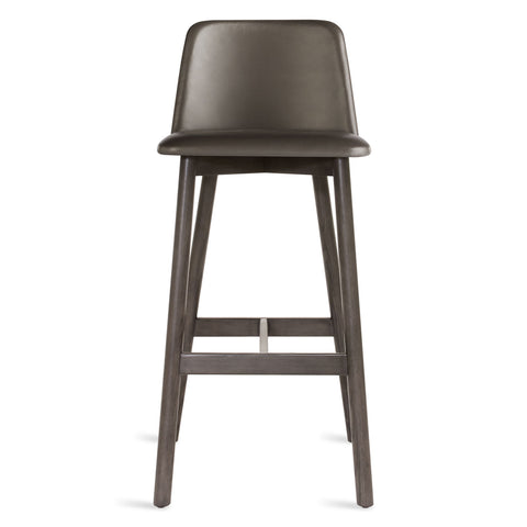 Blu Dot Chip Leather Barstool