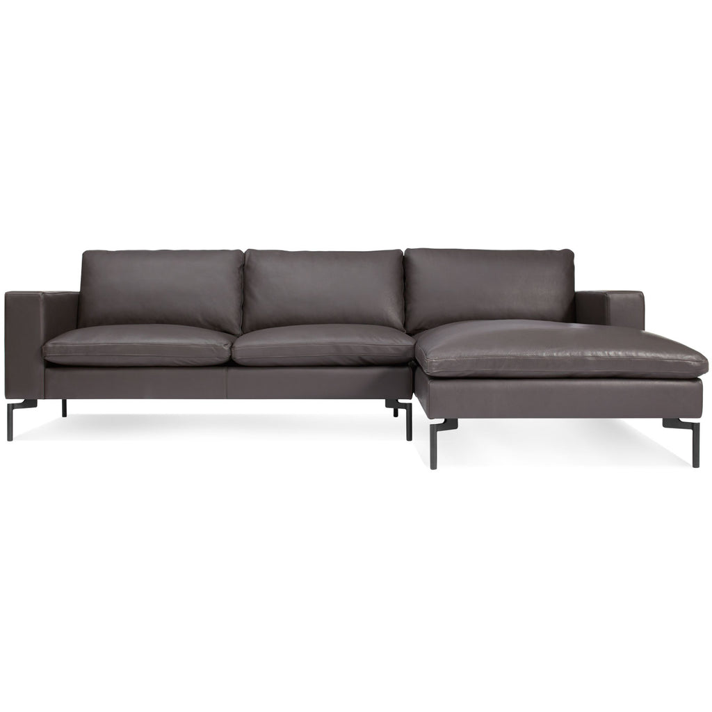 Blu Dot New Standard Leather Sofa w/ Right Arm Chaise