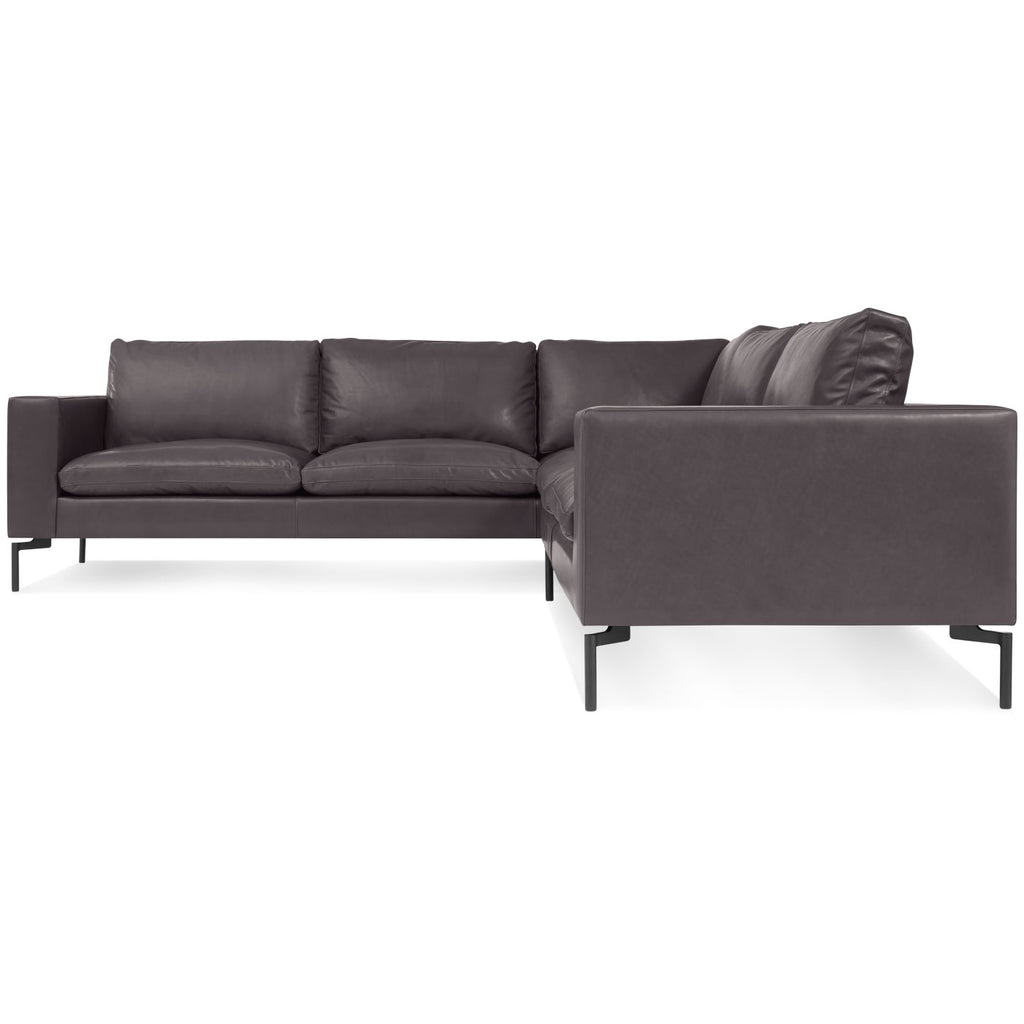 New Standard Left Leather Sectional Sofa - Small