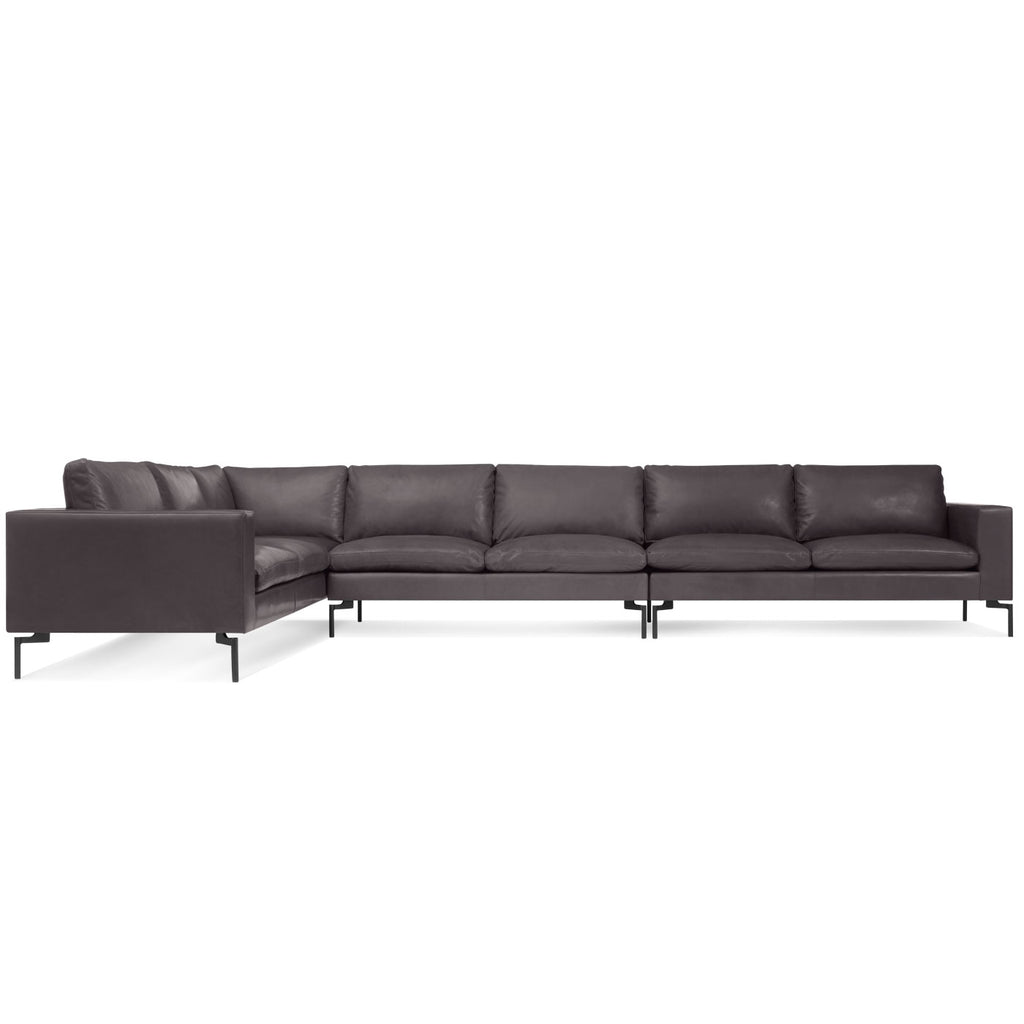 Blu Dot New Standard Left Leather Sectional Sofa - Large