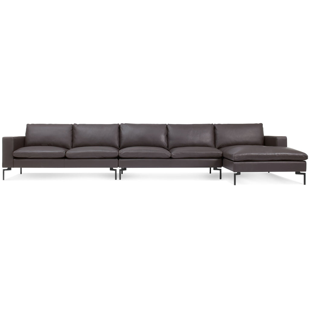 Blu Dot New Standard Right Leather Sectional - Medium