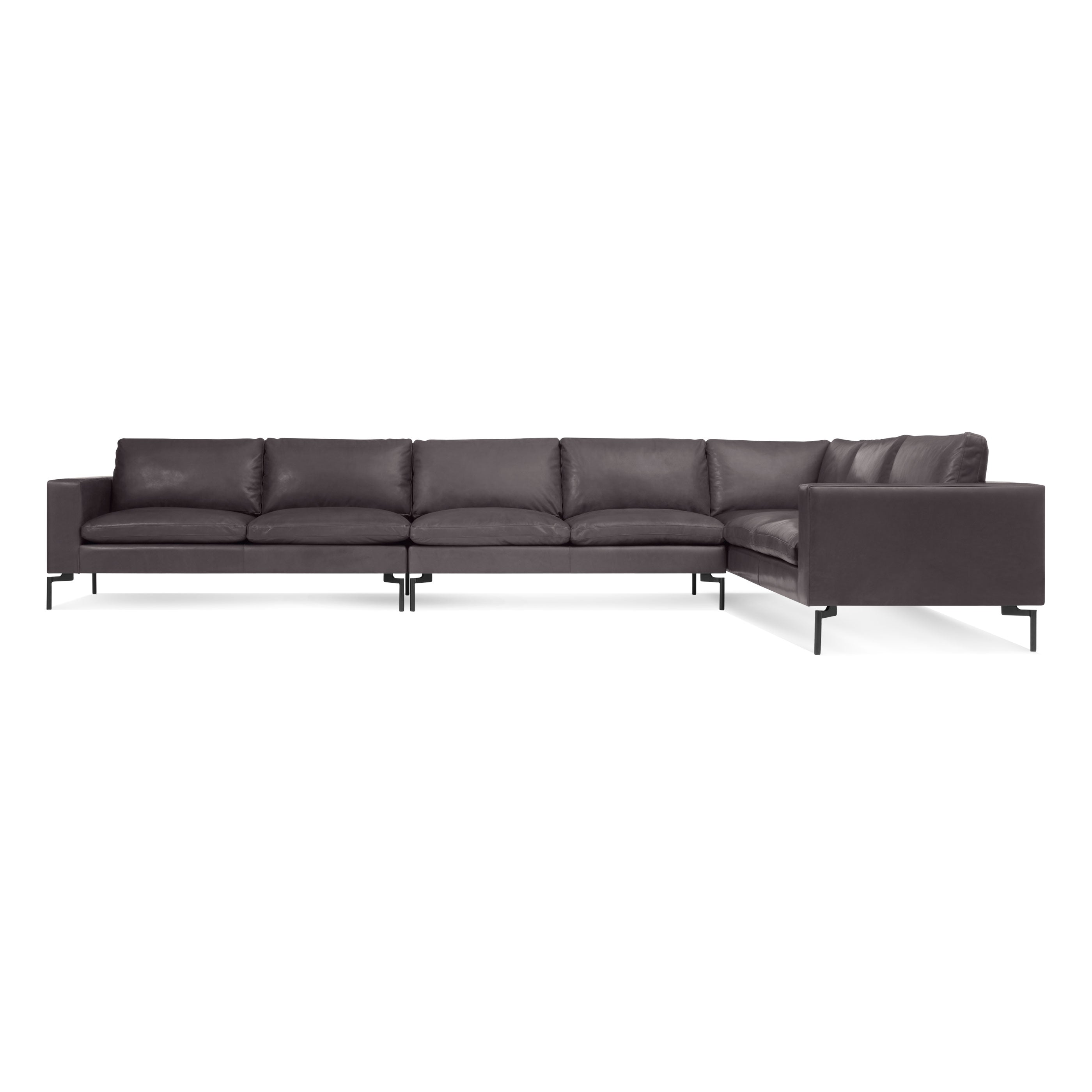 Blu Dot New Standard Right Leather Sectional Sofa Large