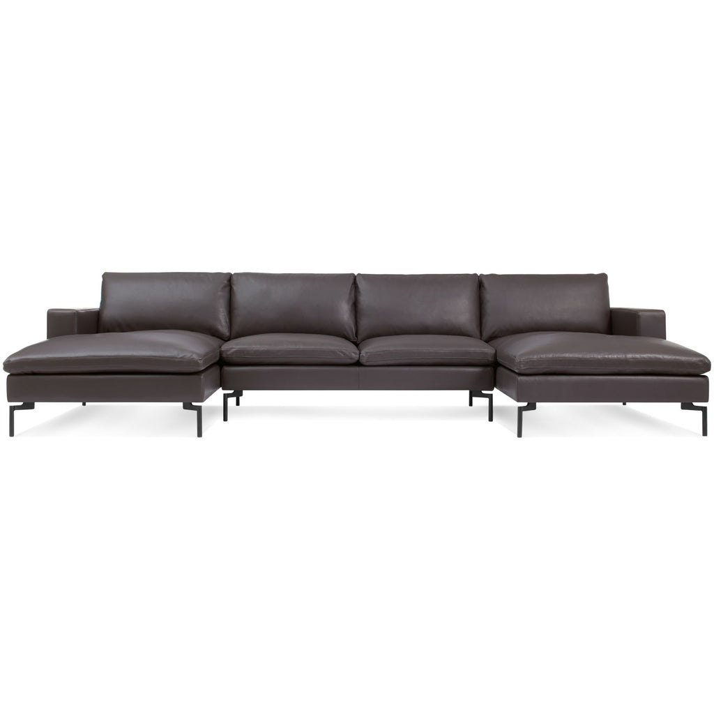 New Standard U-Shaped Leather Sectional Sofa