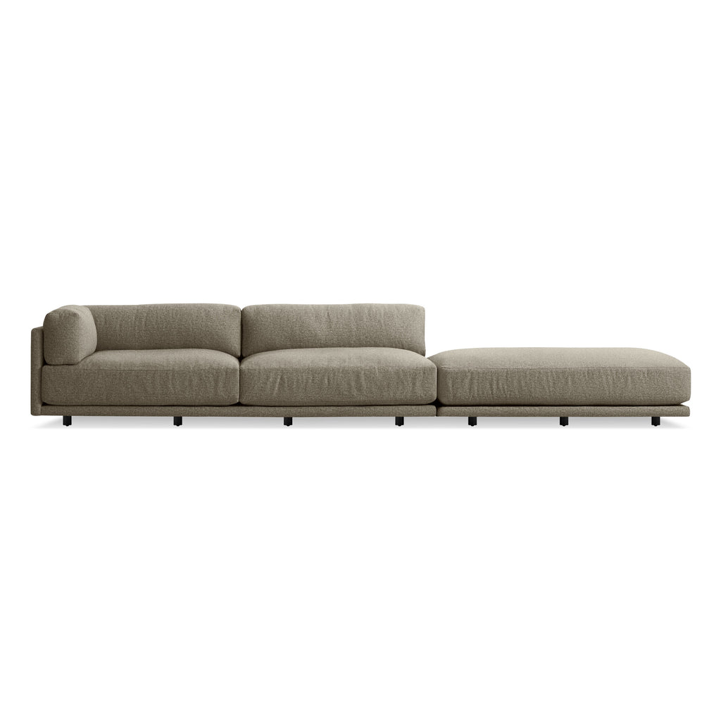 Blu Dot Sunday Long and Low Left Sectional Sofa