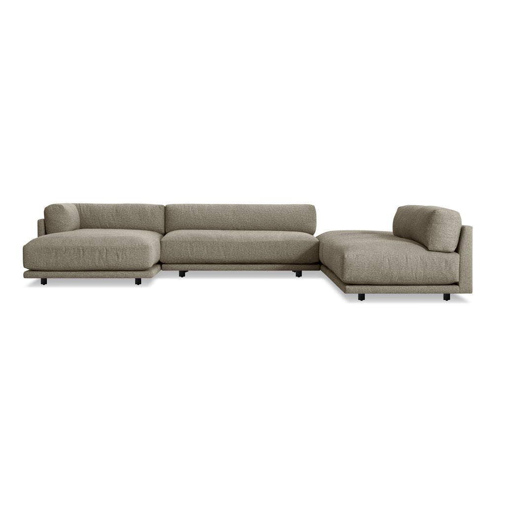 Blu Dot Sunday J Sectional Sofa w/ Left Chaise