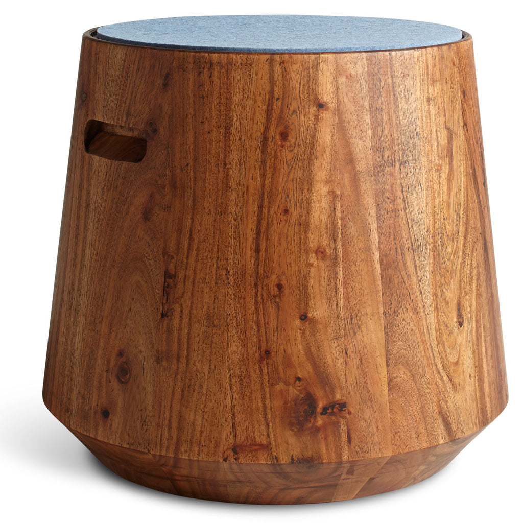 Blu Dot Turn Wood Stool With Felt