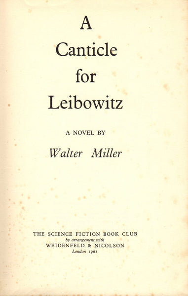 A Canticle for Leibowitz by Walter Miller