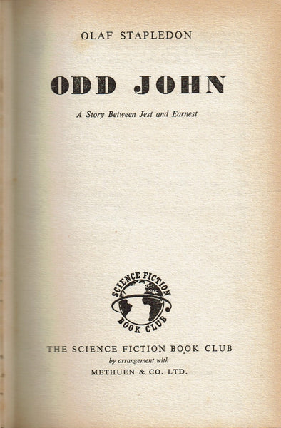 Odd John: A Story Between Jest and Earnest by Olaf Stapledon