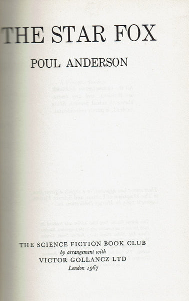 The Star Fox by Poul Anderson