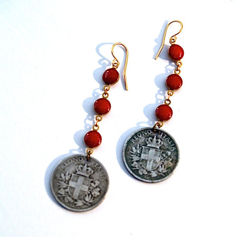 Ready, Cent, Go! | Italy Coin Earrings