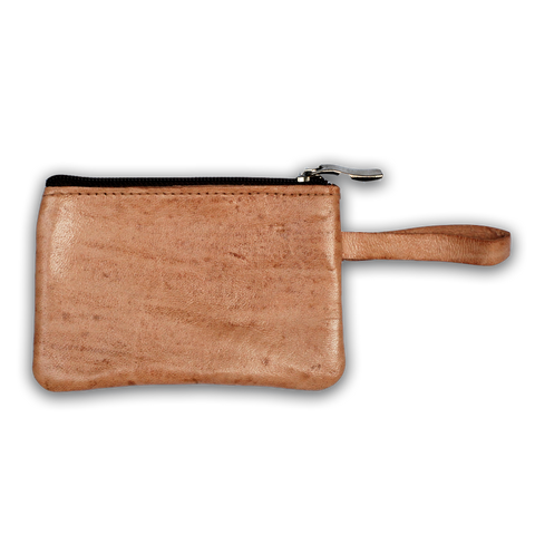 Moroccan Leather Beige Coin Purse