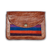 Moroccan Leather and Fabric Clutch