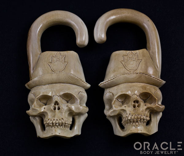 "7/16"" (11mm) Fossilized Mammoth Ivory Oracle Skulls"