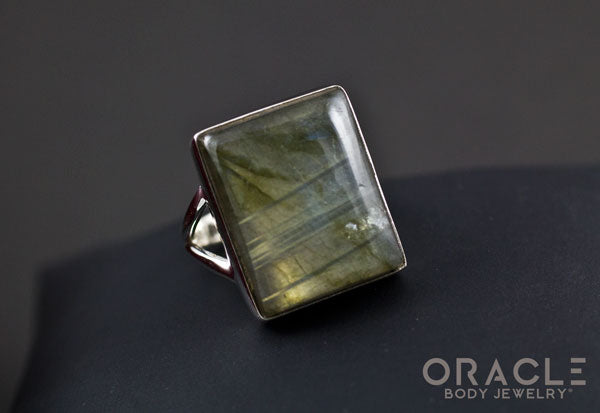 Sterling Silver ring with Labradorite Size 6