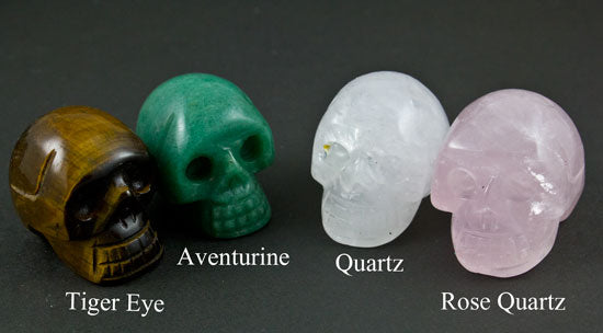 Small Carved Stone Skulls
