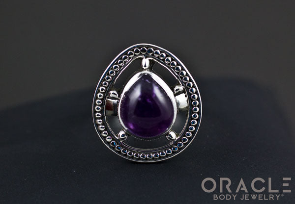 Sterling Silver ring with Amethyst Size 6.5