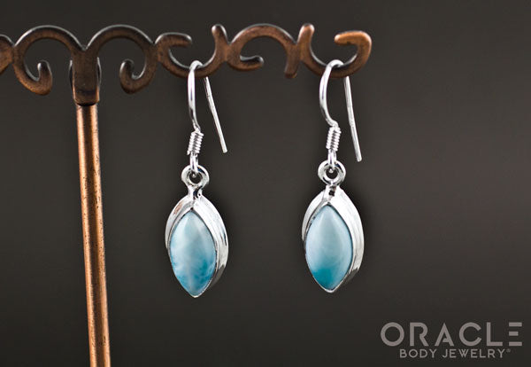 Sterling Silver Larimar Earrings
