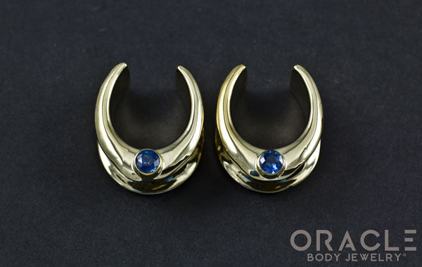 "3/4"" (19mm) Brass Saddles with London Blue Topaz"