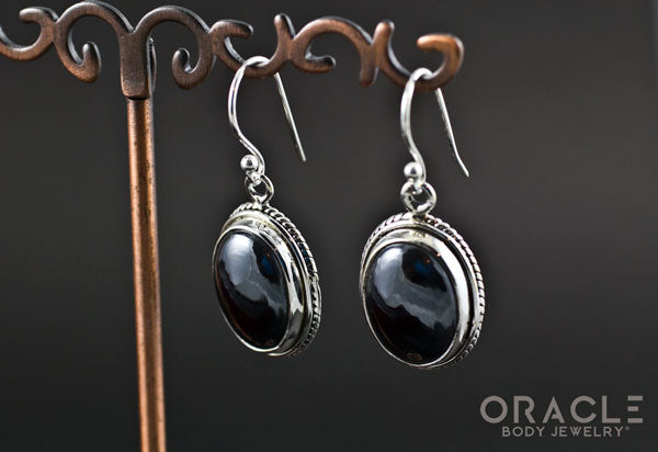 Sterling Silver Hematite Earrings