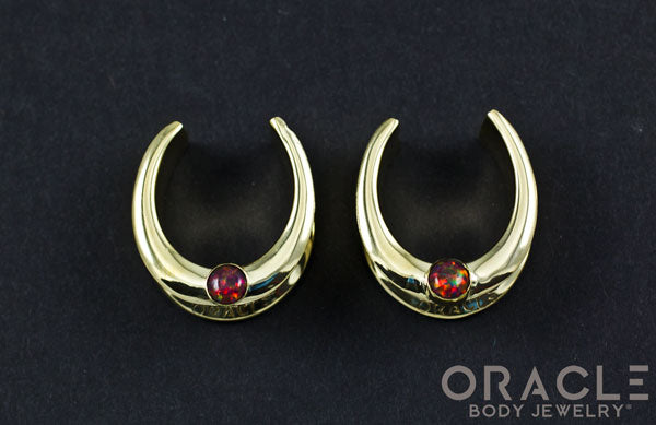 "1"" (25.4mm) Brass Saddles with Synthetic Black Opal"