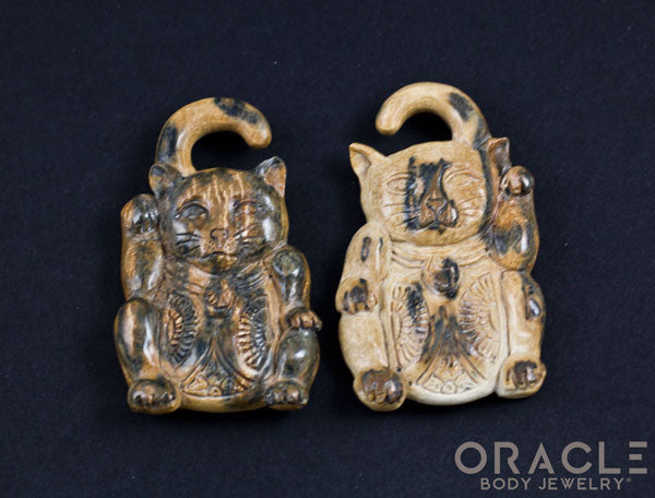 2g (6.5mm) Fossilized Mammoth Ivory Lucky Cat