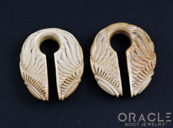 "5/8"" (16mm) Fossilized Mammoth Ivory Sun/Wing Weights"