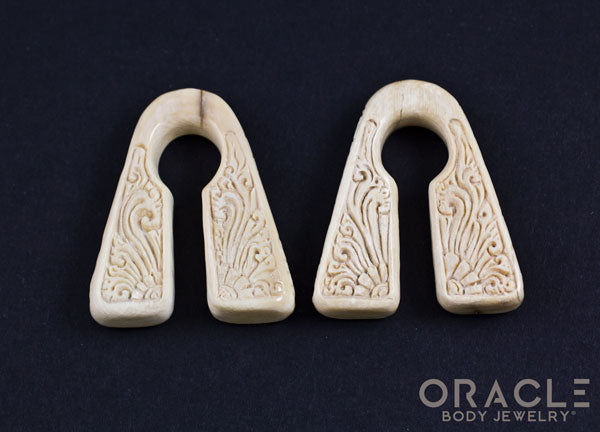 "7/16"" (11mm) Fossilized Mammoth Ivory Pyramid Weights"