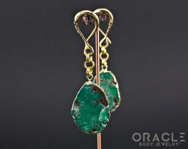Crossover with Gold Plated Chrysoprase