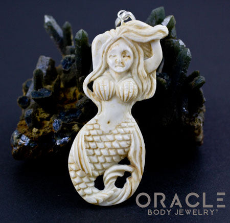 Deer Antler Mermaid Pendant