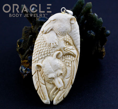 Bear And Eagle Pendant
