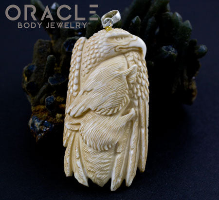 Eagle, Bear, and Wolf Pendant