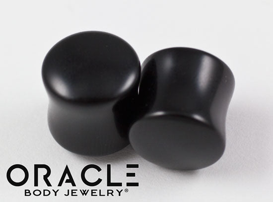 "1/2"" (12.5mm) Obsidian Double Flare Plugs"