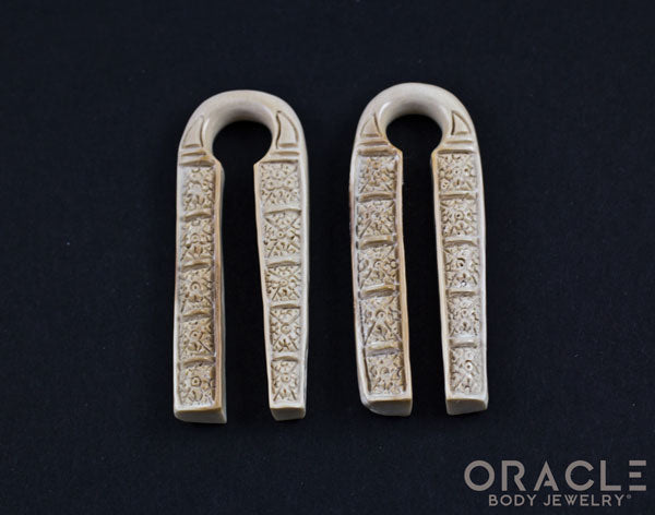 00g (9.5-10mm) Fossilized Mammoth Ivory Long Naga Weights