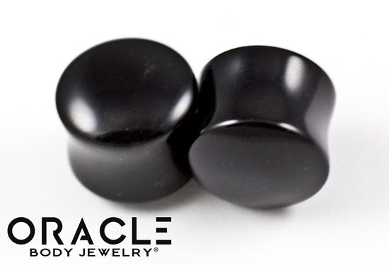 "5/8"" (16mm) Obsidian Double Flare Plugs"