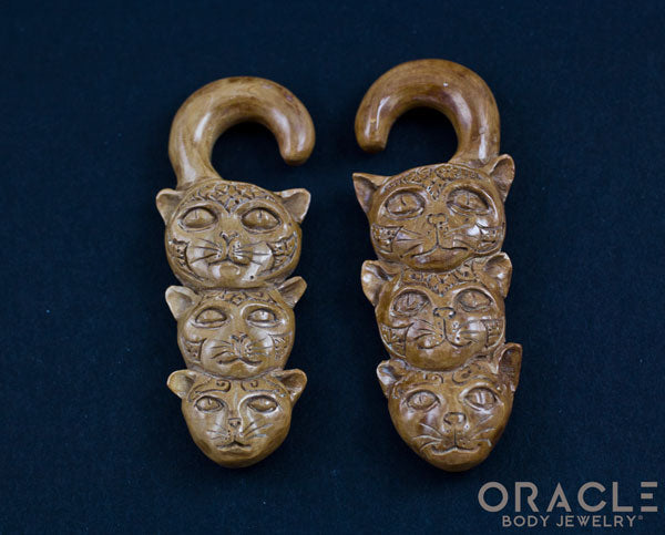 0g (8mm) Fossilized Mammoth Ivory Split Stacked Cats