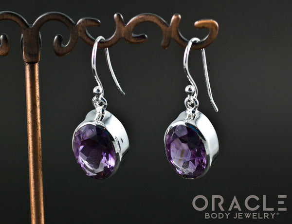 Sterling Silver Amethyst Earrings