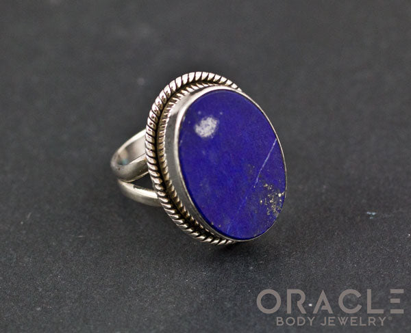 Sterling Silver Lapis Ring Size 6
