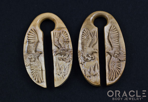 "11/16"" (17mm) Fossilized Mammoth Ivory Eagle Weights"