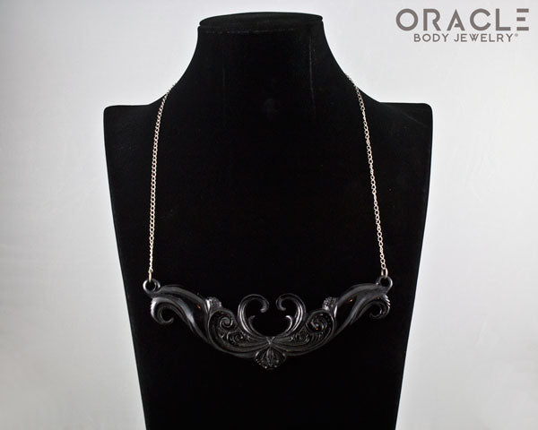 Horn Necklace with Steel Chain
