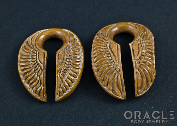 "5/8"" (16mm) Fossilized Mammoth Ivory Split Wings"