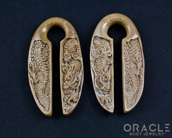"5/8"" (16mm) Fossilized Mammoth Ivory Dragon Weights"