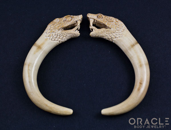"1/2"" (12.5mm) Fossilized Mammoth Ivory Snake Claws"